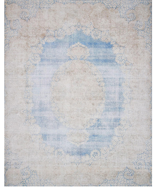 Magnolia Home Lucca Light Blue & Sand Rug | PLD Staff Favorites