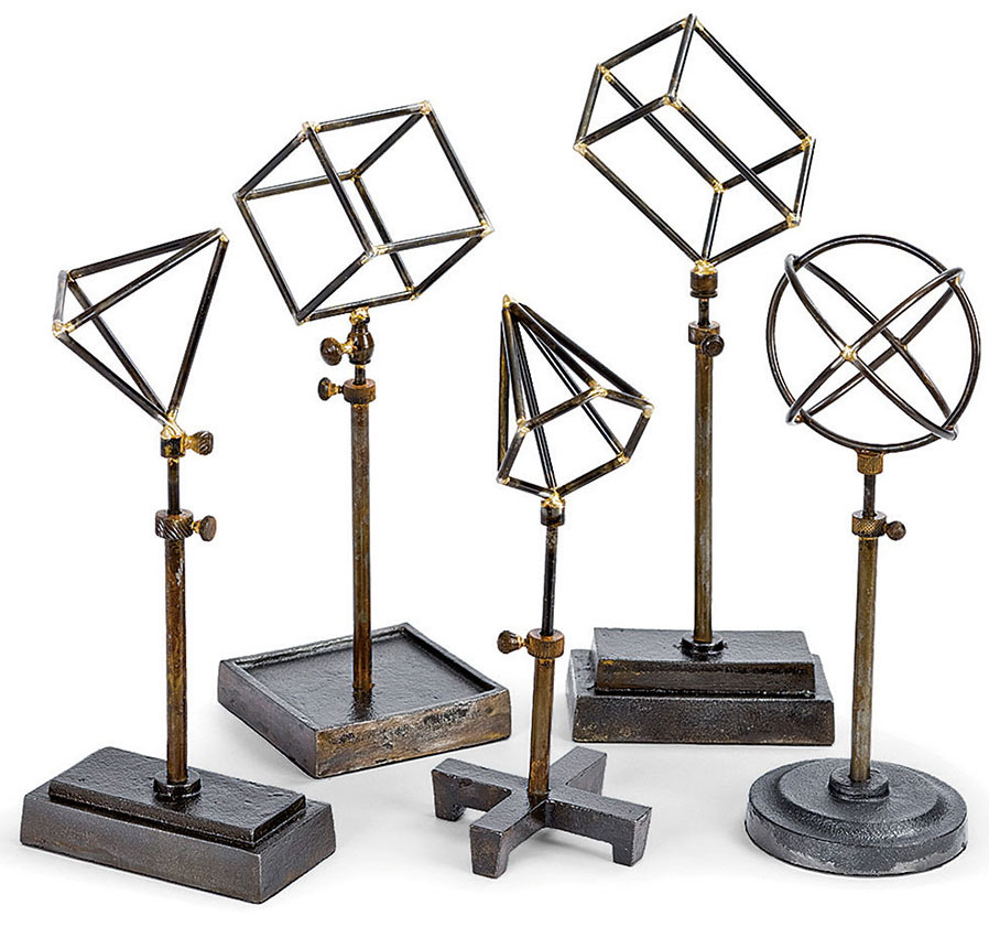Regina Andrew Design Home Geometrical Shapes On Stand - Set of 5 | PLD Staff Favorites
