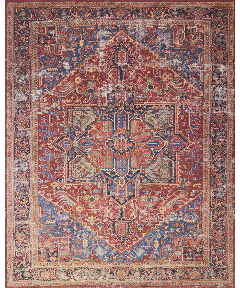 Magnolia Home Lucca Rug by Joanna Gaines - Red & Blue | PLD Staff Favorites