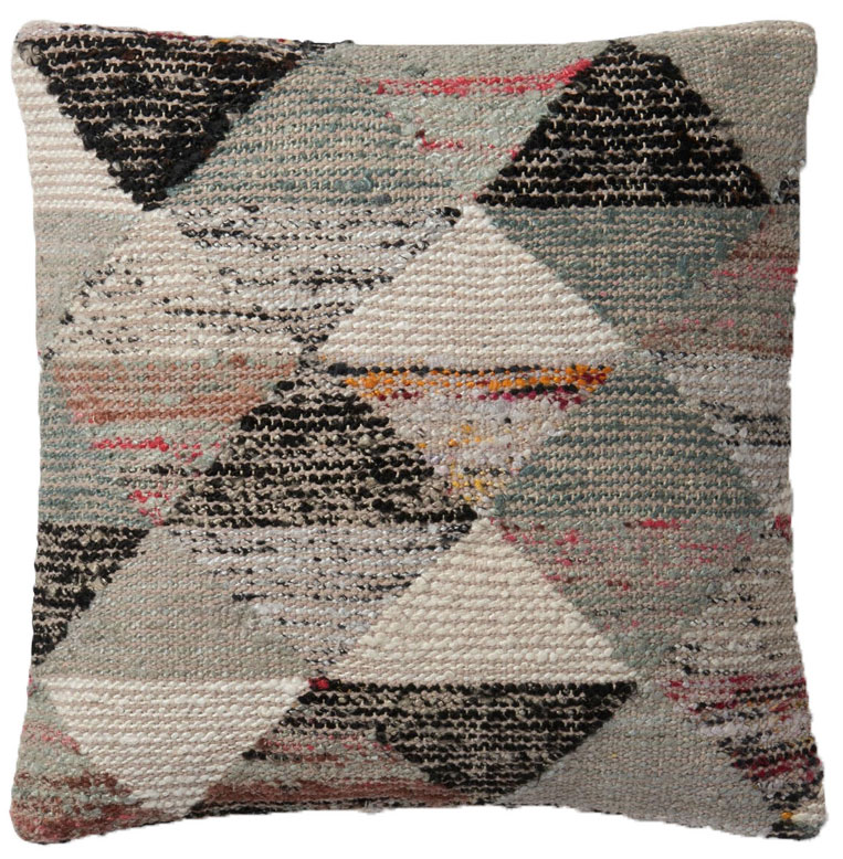 Magnolia Home by Joanna Gaines 22 x 22 Trinity Pillow Grey & Multi - P1043 | PLD Staff Favorites
