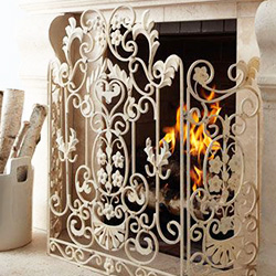 Fireplace Accessories | Screens, Andirons, Sculptures