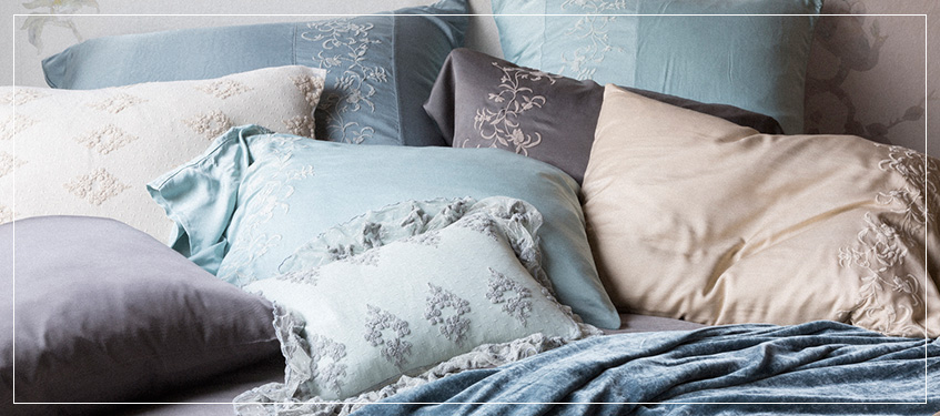 we feature brands known for crafting deluxe fabrics to offer you the most comfortable bedding