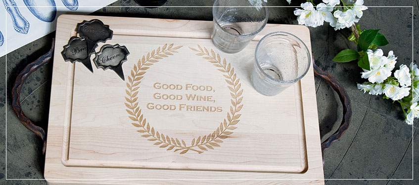 Maple Leaf Cutting Boards | Monogrammed Trays | Personalized Wedding Gifts