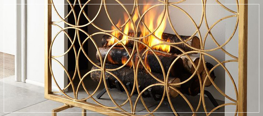 Shop Fireplace Accessories | Arteriors Designer Fireplace Screens