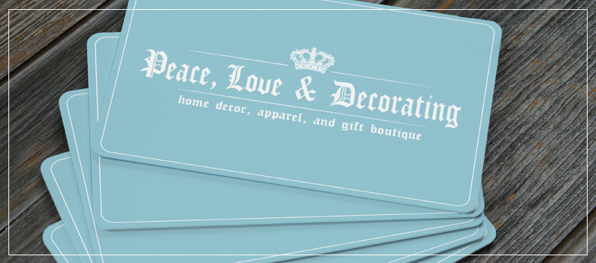 Peace Love Decorating Gift Certificates Pld Gift Cards