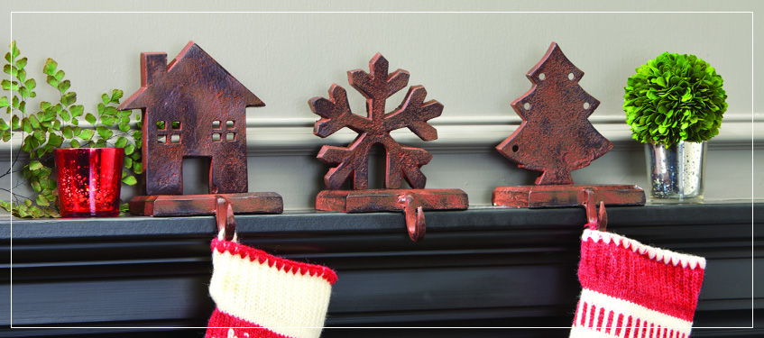 Pomeroy Collection Holiday Decorations Stocking Hangers Holders