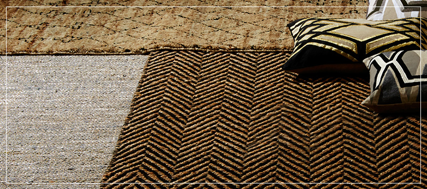 Natural Luxury Area Rugs Handwoven Rug In Jute And Soft