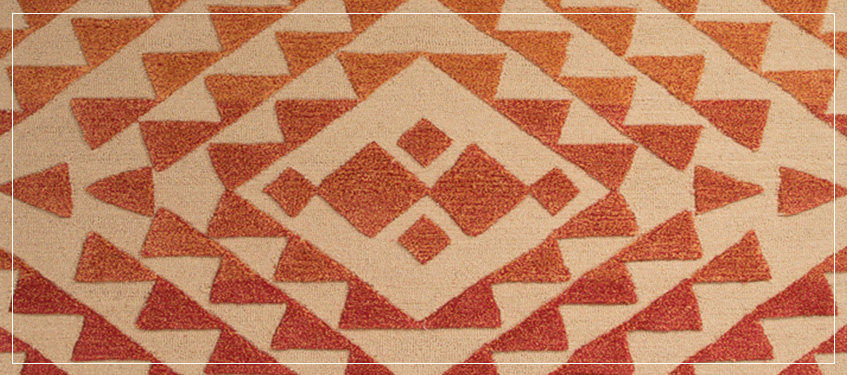 Area Rug with Tribal Design | High End Rugs with Patterns