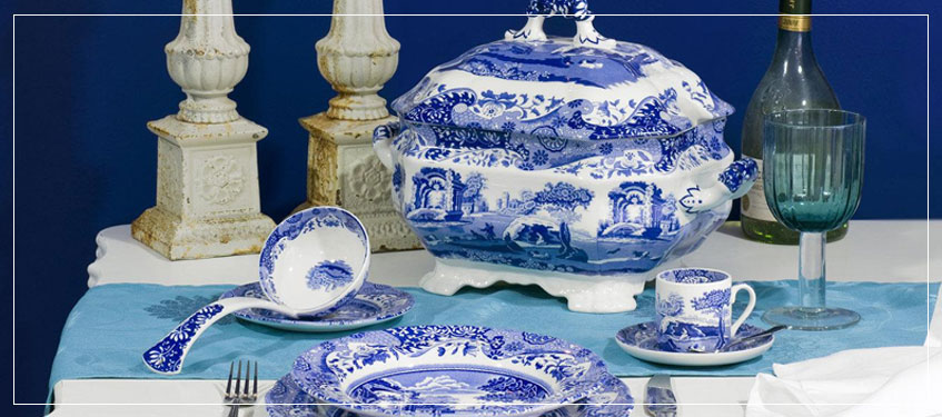 Serving Utensils | Spode Blue Italian Soup Tureen and Ladle