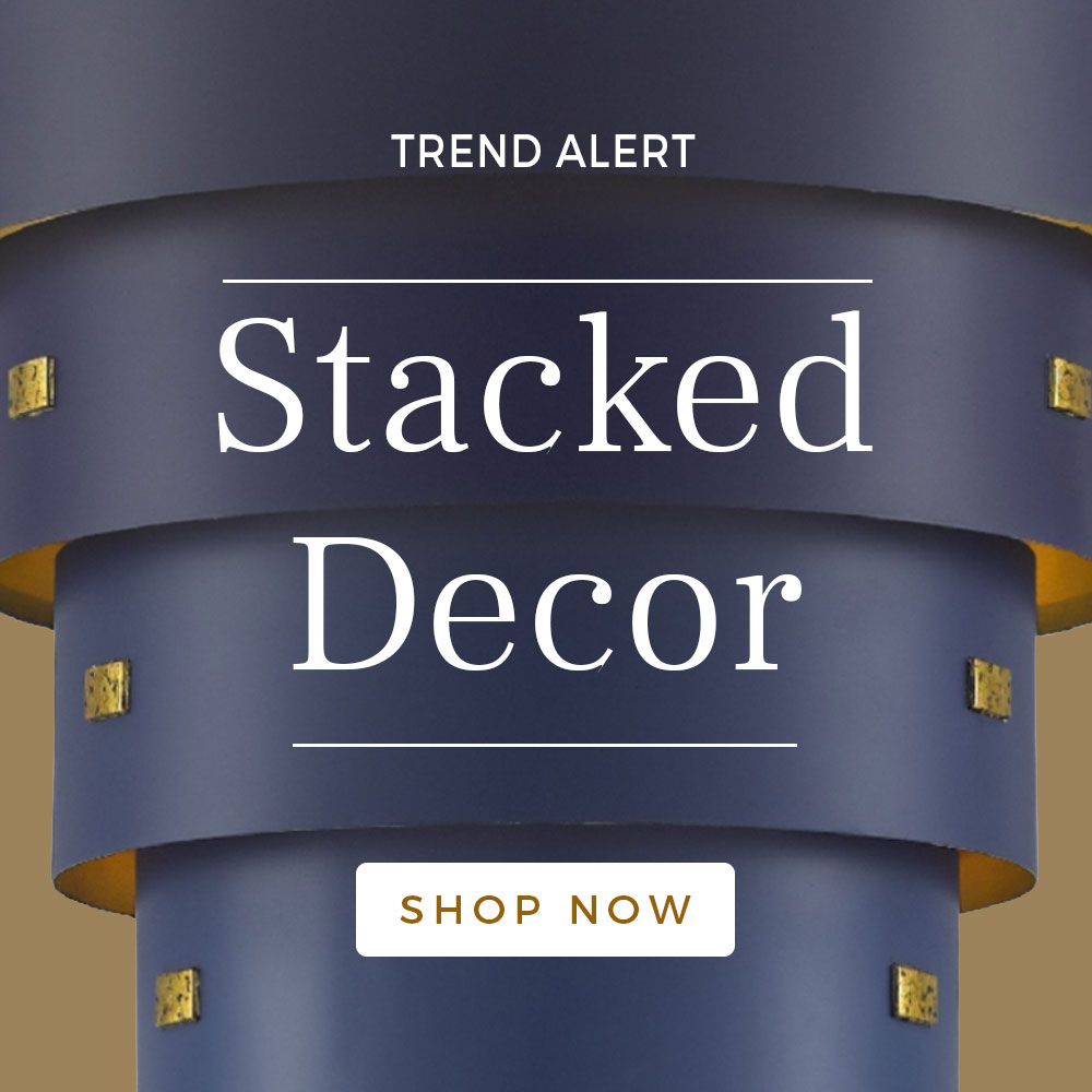 Stacked Decor | Fall 2019 Trend | Luxury Home Decor