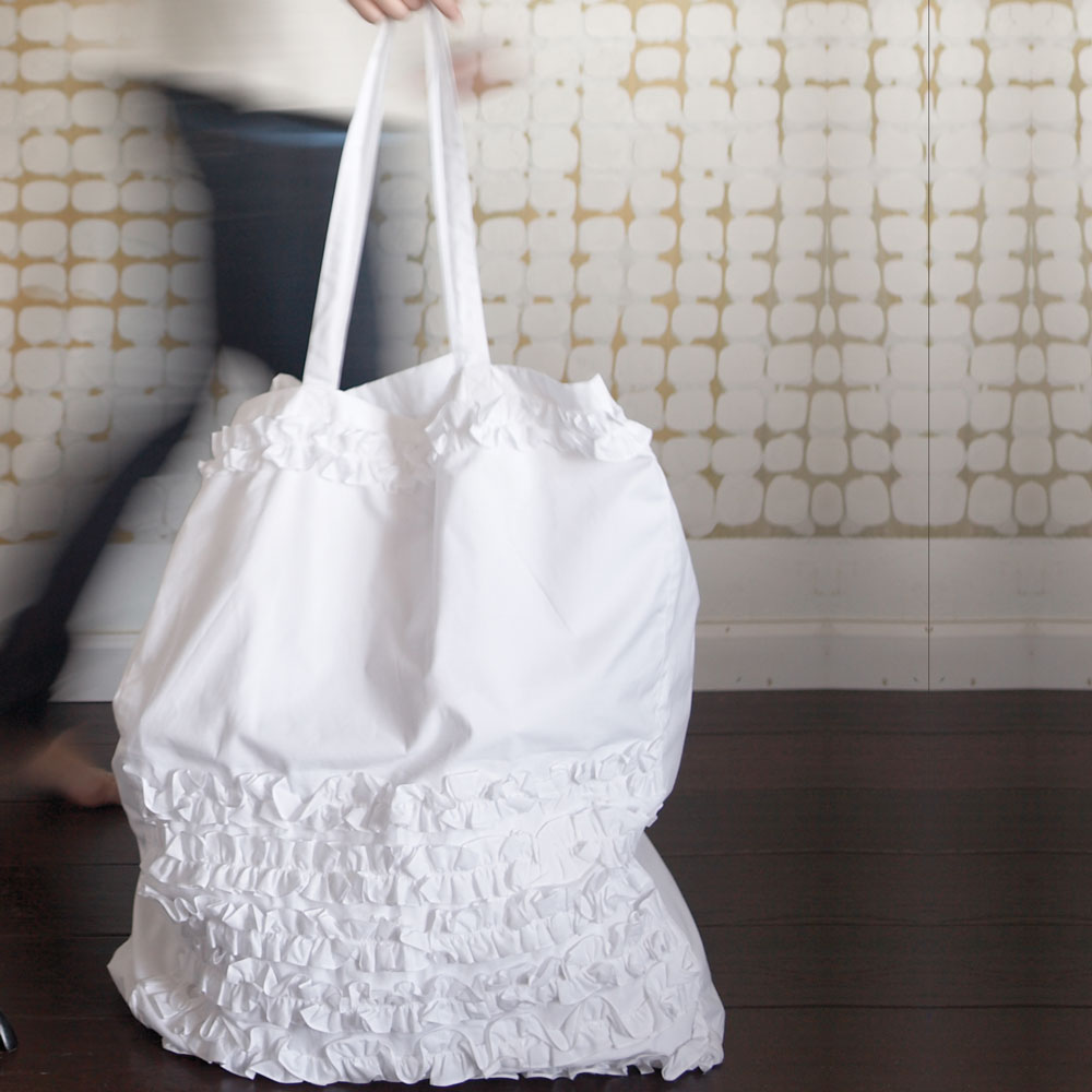 Ruffled Laundry Bags