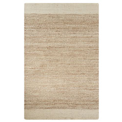 Handwoven Rug in Jute and Soft Fibers | Natural Luxury Area Rugs