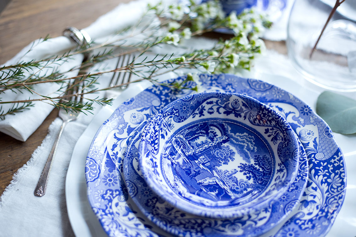 Spode Blue Italian Fine China | Spode Blue Italian Cereal Bowls & Spode Blue Italian Lookbook 2017 | Spring Tablescape Ideas