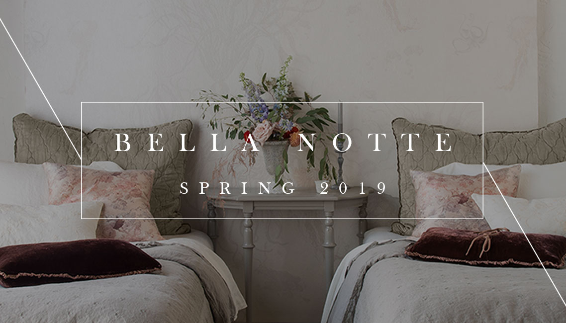 Bella Notte Linens | Lookbook Spring 2019