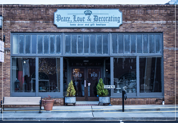 Peace, Love & Decorating Store Front | Historic Downtown Duluth, GA