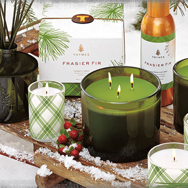 Thymes Fraiser Fur Holiday Candles