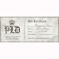 $75 Gift Certificate | PLD Gift Certificate