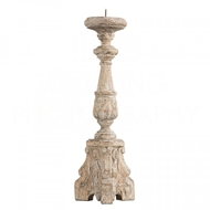Aidan Gray Home San Lorenzo Candlestick in Rustic Wood C142