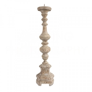 Aidan Gray Home Roma Candlestick in Rustic Wood C144