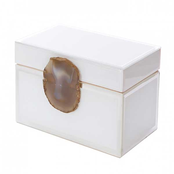 Aidan Gray Home Lillian Jewelry Box With Agate