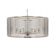 Aidan Gray Home Lighting Large Mod X Drum Chandelier In Nickel Nickel