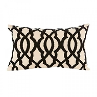 Aidan Gray Home Accessories Ripples Pillow PL12 RIP CBLK