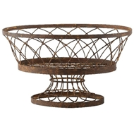 Aidan Gray Home Large Oval Basket 7830GR-Metal-Iron