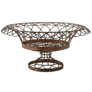 Aidan Gray Home Large Round Petal Basket 7850GR-Metal-Iron