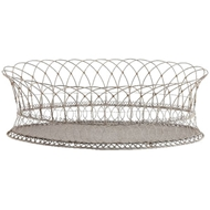 Aidan Gray Home Long Oval Basket 7910GW-Metal-Iron