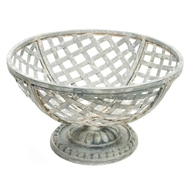 Aidan Gray Home Metal Basket On Pedestal G40-Iron