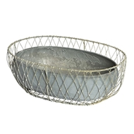Aidan Gray Home Naworth Hall Floral Basket G150-Metal