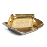 Aidan Gray Home Set Of 2 Casted Trays D331 SET HOM