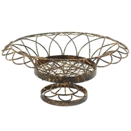 Aidan Gray Home Small Round Petal Basket G66-Metal-Iron