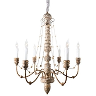 Aidan Gray Lighting Lena Chandelier Large Gold L632L CHAN GLD