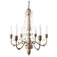 Aidan Gray Lighting Lena Chandelier Small Gold L630S CHAN GLD-Cast Resin
