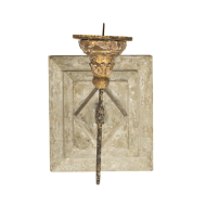 Aidan Gray Lighting Anette Antiqued Square Wall Sconce Candlestick - Pair