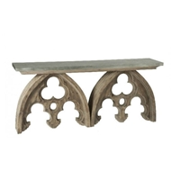 Aidan Gray Home Arched Cathedral Table with Tin Top
