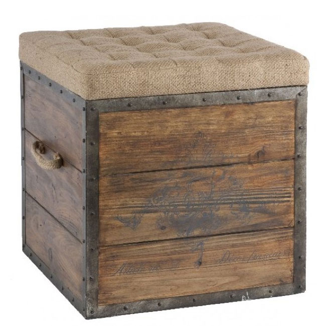 Aidan Gray Article No 54 Wooden Storage Cube Vintage Style Home