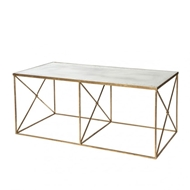Aidan Gray Home Furano Coffee Table Glass Top