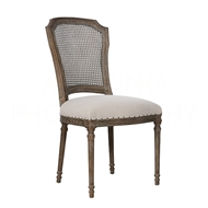 Aidan Gray Home Chelsea Dining Chair - Cane Back - Burnt Oak & Cloud - Pair