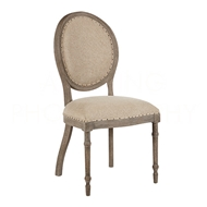 Aidan Gray Home Grace Dining Chair - Nantucket Gray/Texture Line - Oak CH459 NGTL
