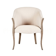 Aidan Gray Home High Point Occasional Chair - Nantucket Gray & Cloud - Wood CH565 NGCL
