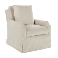 Aidan Gray Home James Swivel Chair - Linen