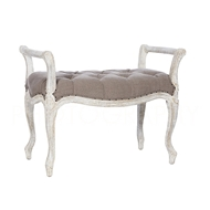 Aidan Gray Home Laurie Bench - Short - Romantique & Cement