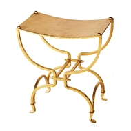 Aidan Gray Home Swain Bench - Gold - Metal CH135 GLD