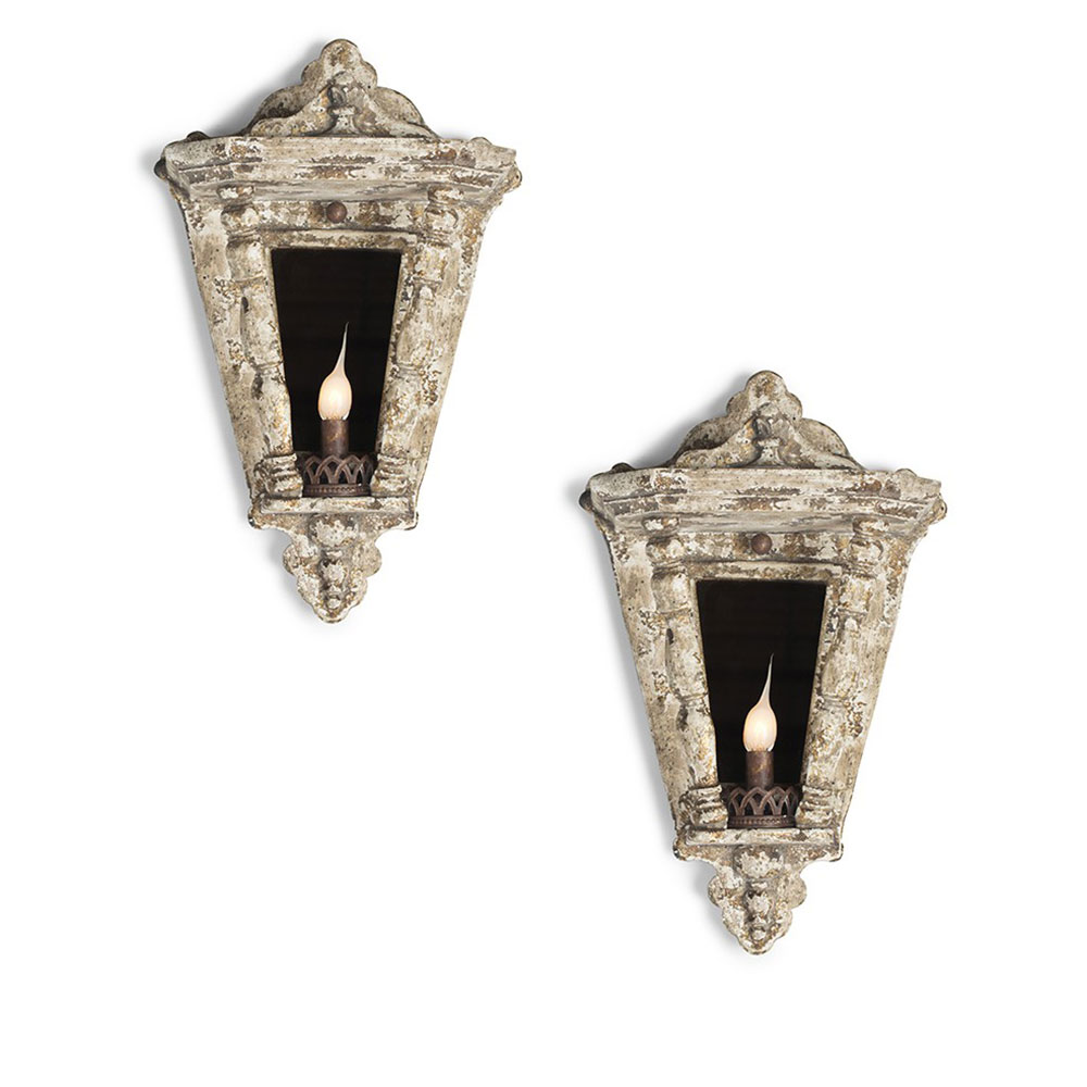 aidan gray lighting ariel rustic wall sconces pair