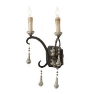 Aidan Gray Lighting Crepon Double Arm Wall Sconce - Pair
