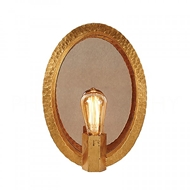 Aidan Gray Lighting Oval Hammered Sconce In Gold WL400 GLD