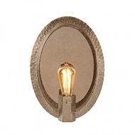 Aidan Gray Lighting Oval Hammered Sconce In Nickel WL400 NKL