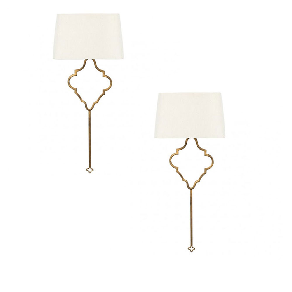Aidan gray quatrefoil wall sconce wl287 free shipping price match aidan gray quatrefoil wall sconce pair geotapseo Image collections